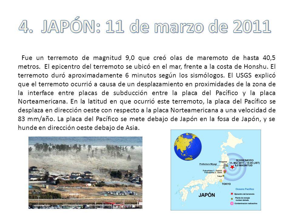 4. JAPÓN: 11 de marzo de 2011