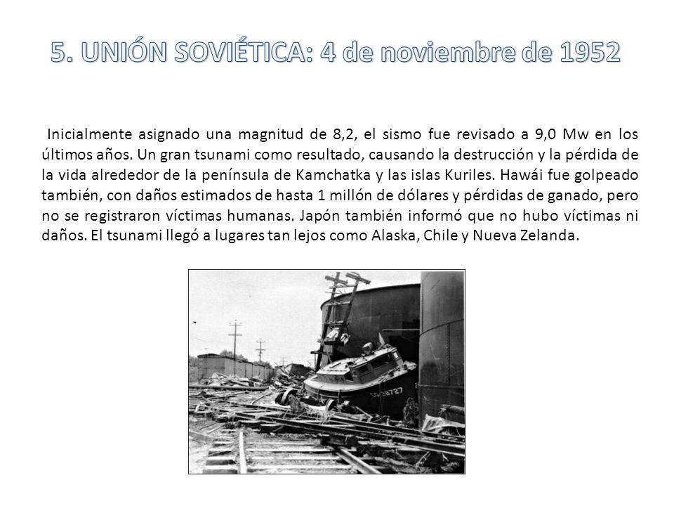 5. UNIÓN SOVIÉTICA: 4 de noviembre de 1952