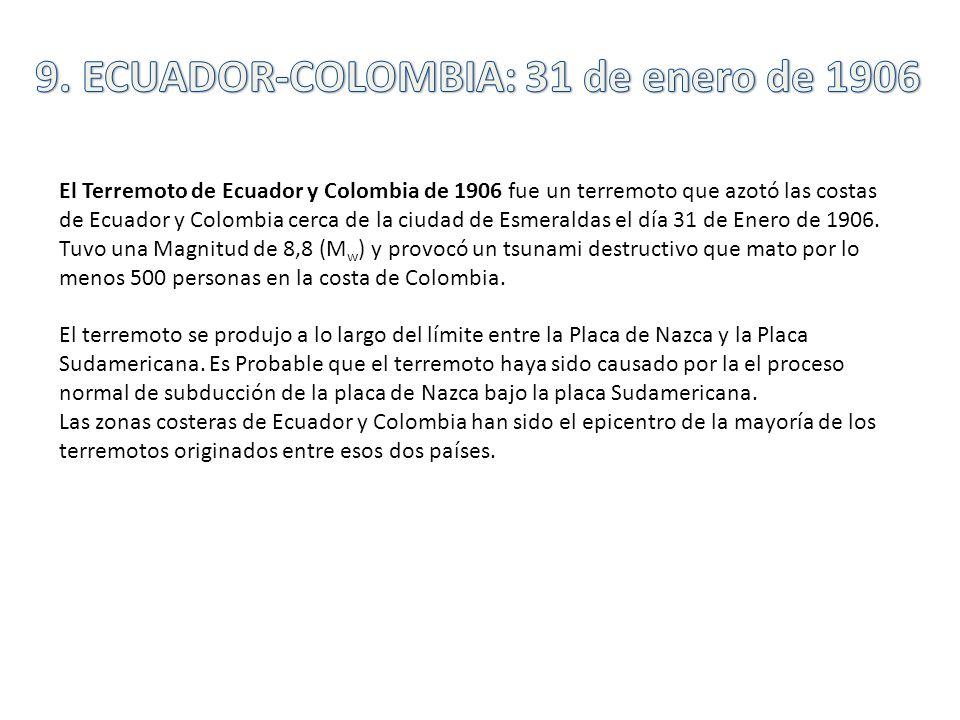 9. ECUADOR-COLOMBIA: 31 de enero de 1906
