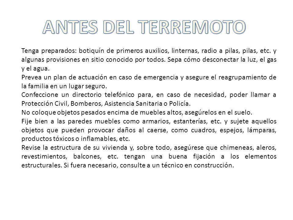 ANTES DEL TERREMOTO
