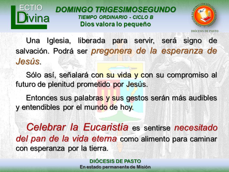 Una Iglesia, liberada para servir, será signo de salvación