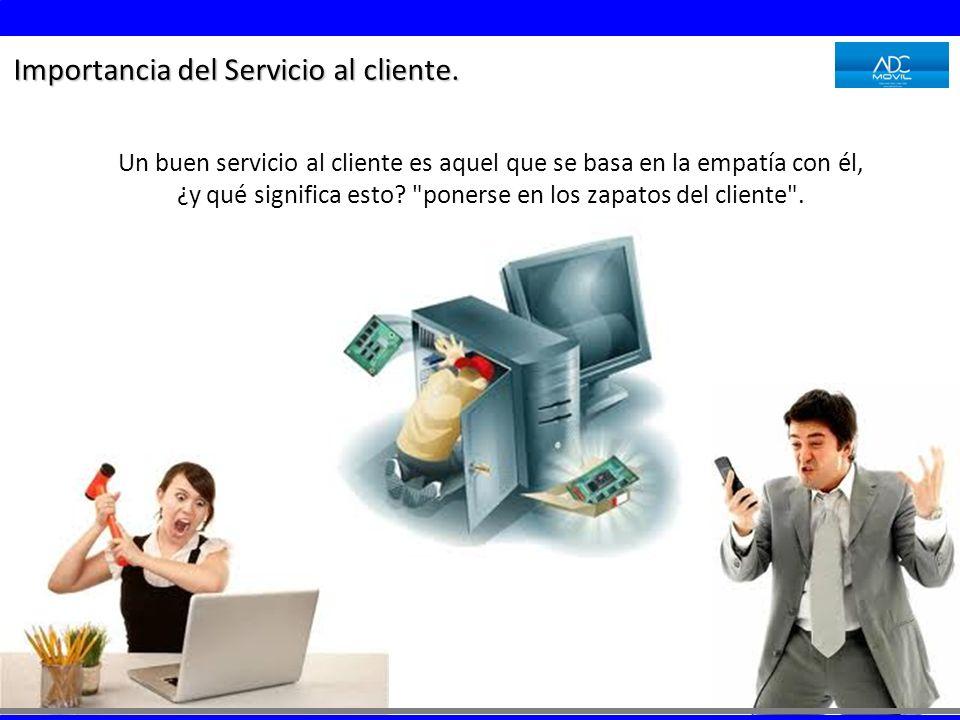 Importancia del Servicio al cliente.
