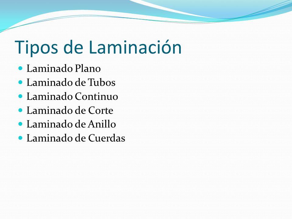 Tipos de Laminación Laminado Plano Laminado de Tubos Laminado Continuo