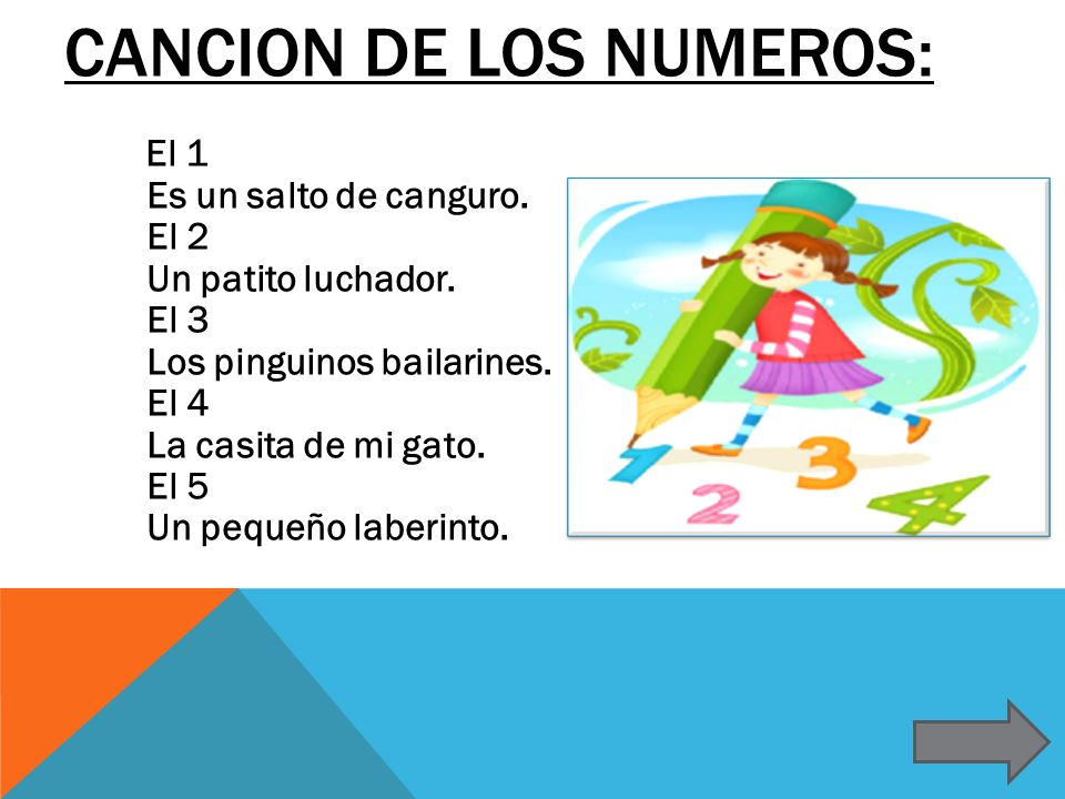Cancion de los numeros: