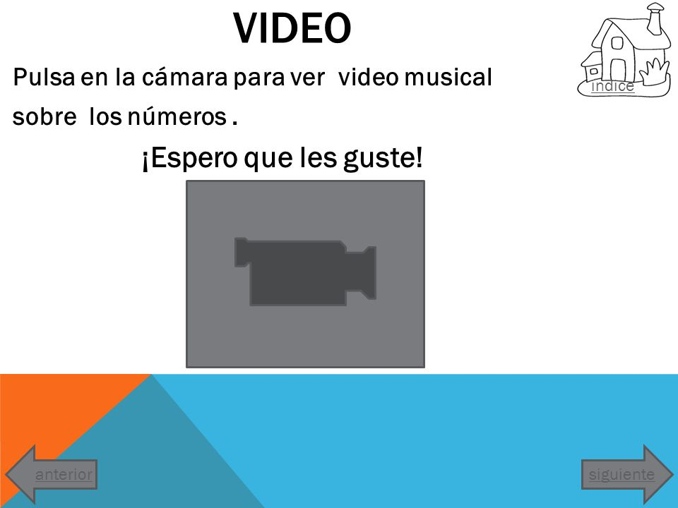 Video Pulsa en la cámara para ver video musical sobre los números .