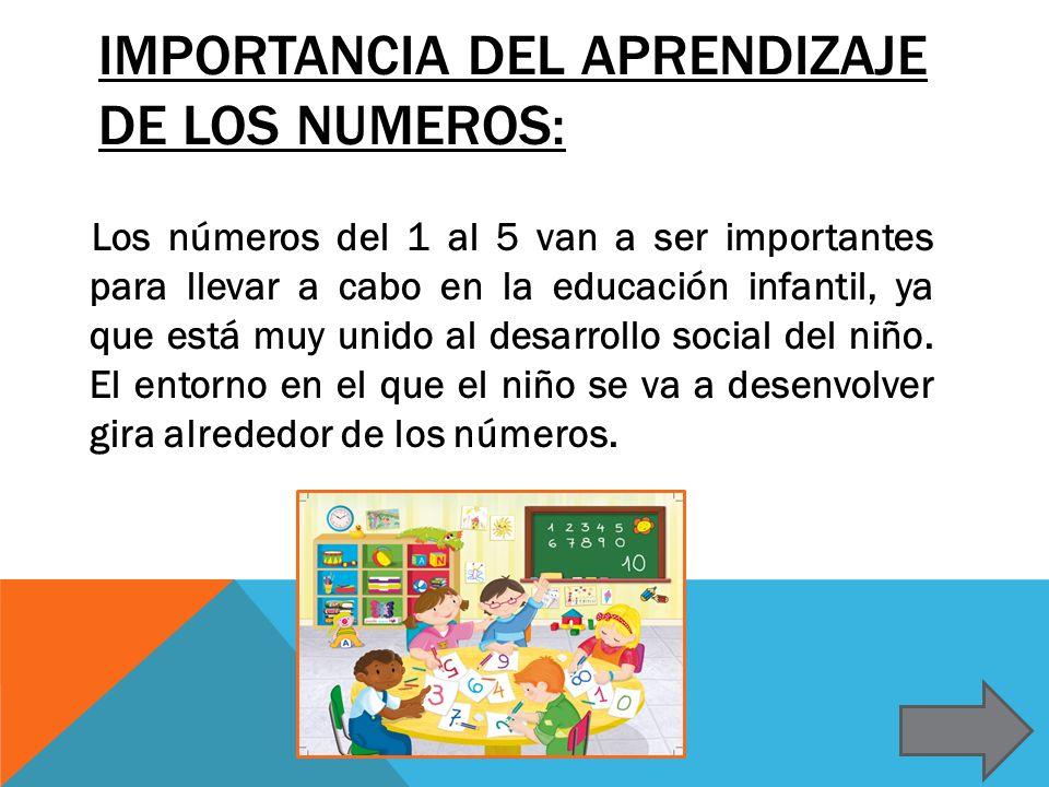 Importancia del aprendizaje de los numeros: