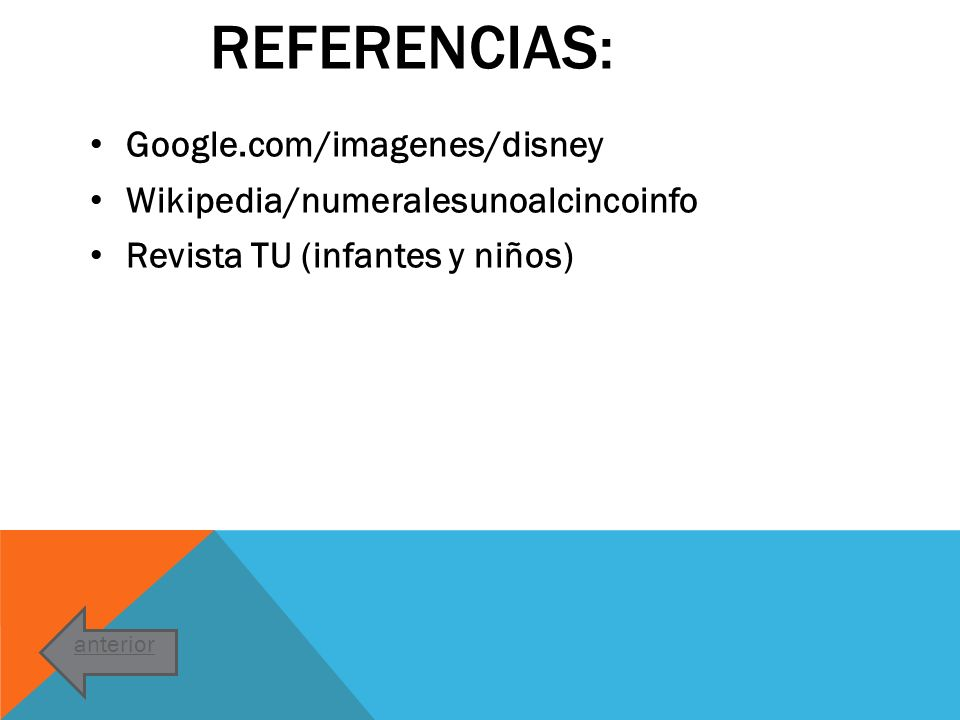 Referencias: Google.com/imagenes/disney