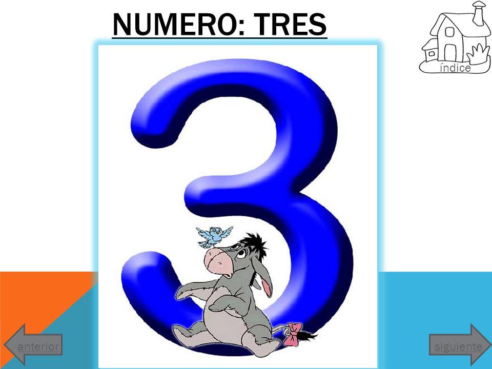NUMERO: TRES índice anterior siguiente