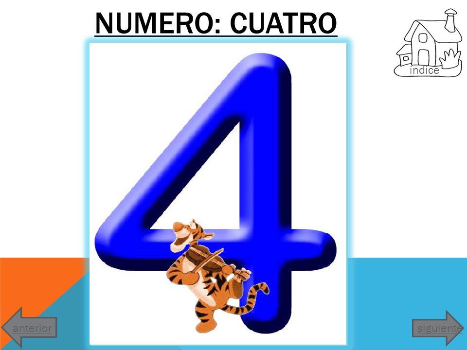 NUMERO: CUATRO índice anterior siguiente