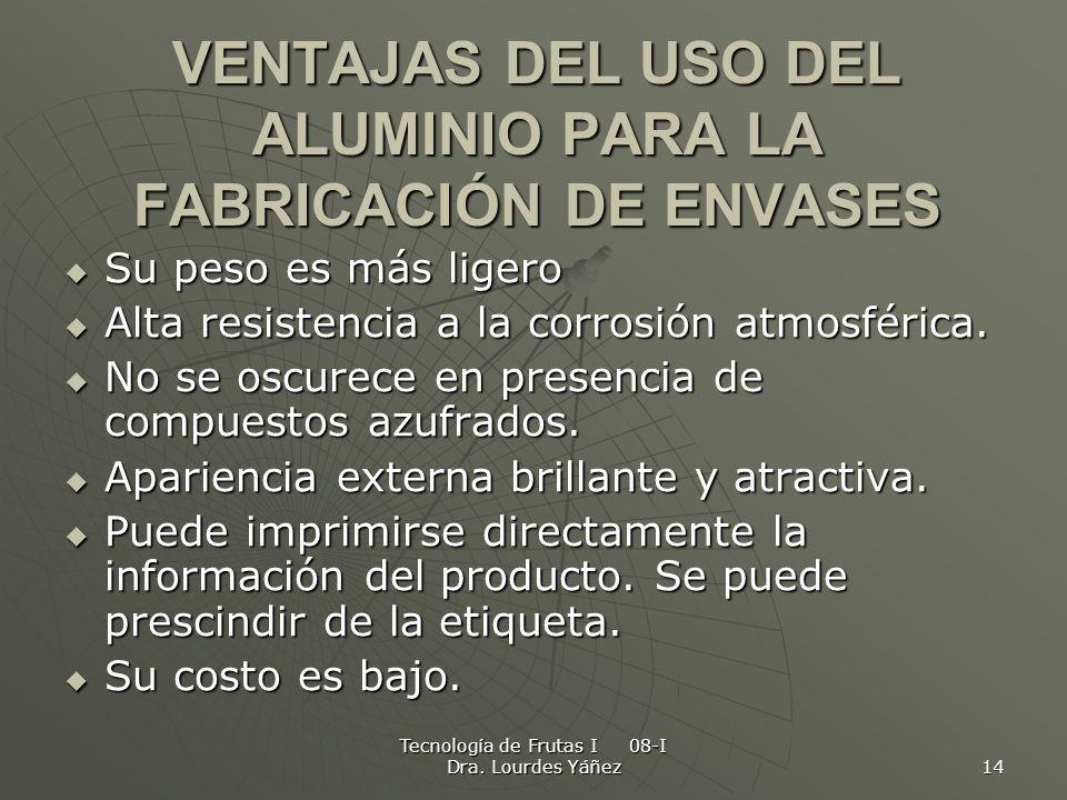 VENTAJAS DEL USO DEL ALUMINIO PARA LA FABRICACIÓN DE ENVASES