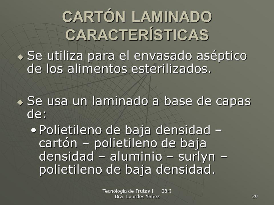 CARTÓN LAMINADO CARACTERÍSTICAS
