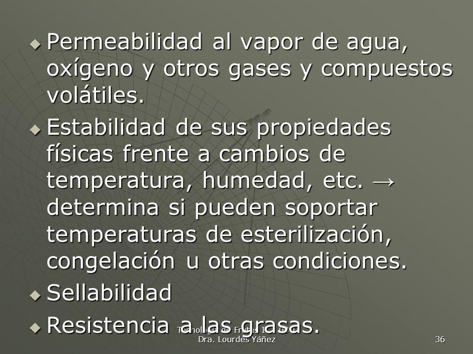 Tecnología de Frutas I 08-I Dra. Lourdes Yáñez