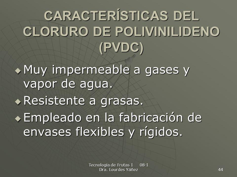 CARACTERÍSTICAS DEL CLORURO DE POLIVINILIDENO (PVDC)
