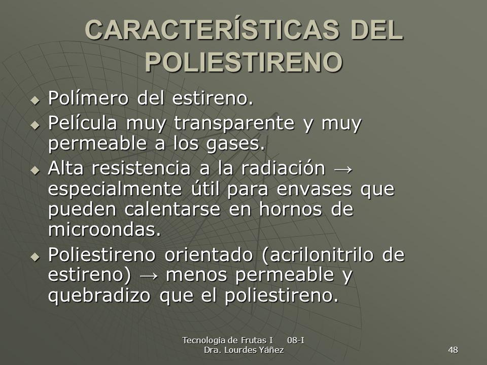 CARACTERÍSTICAS DEL POLIESTIRENO