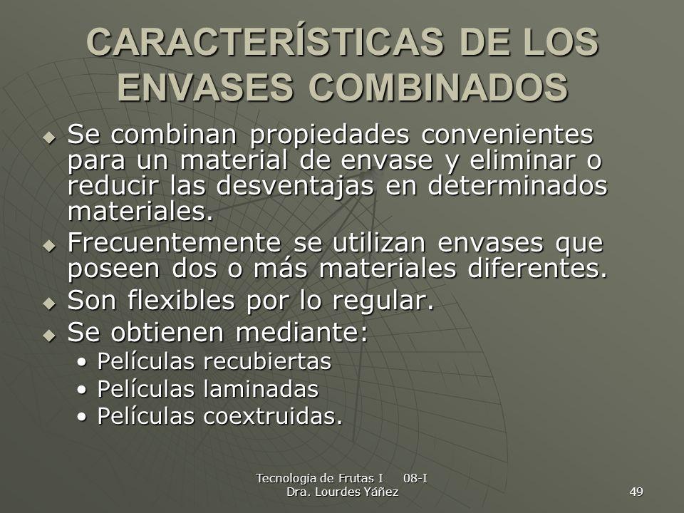 CARACTERÍSTICAS DE LOS ENVASES COMBINADOS
