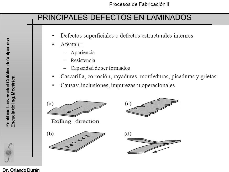 PRINCIPALES DEFECTOS EN LAMINADOS
