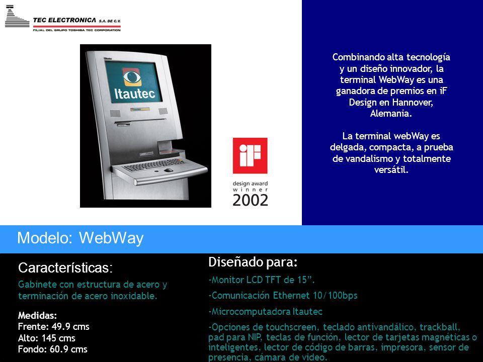Modelo: WebWay Diseñado para: Características: