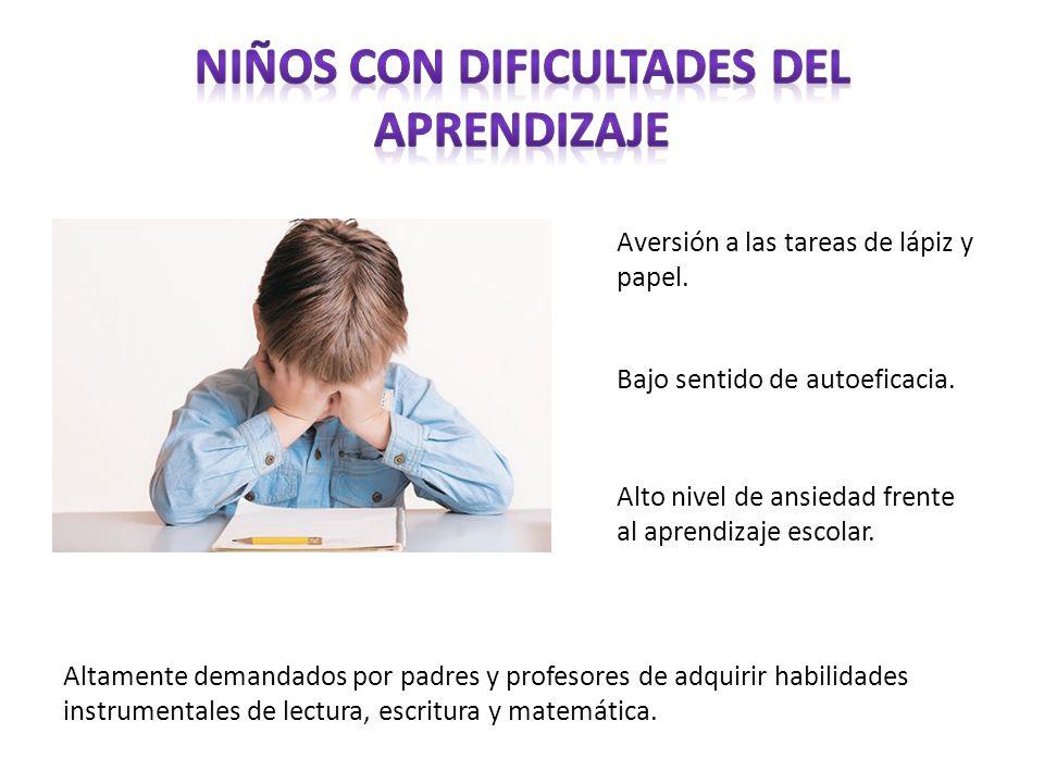 Niños con Dificultades del Aprendizaje