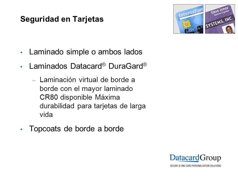 Laminado simple o ambos lados Laminados Datacard® DuraGard®