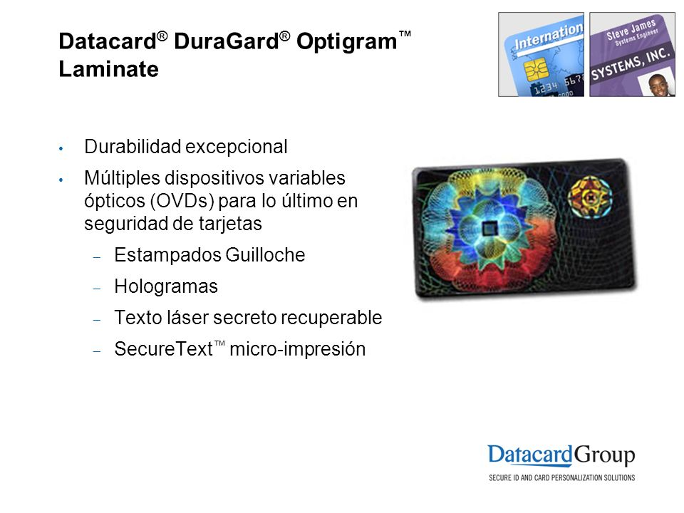 Datacard® DuraGard® Optigram™ Laminate