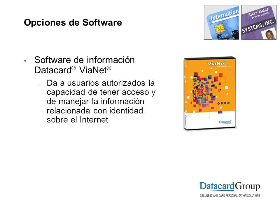 Software de información Datacard® ViaNet®