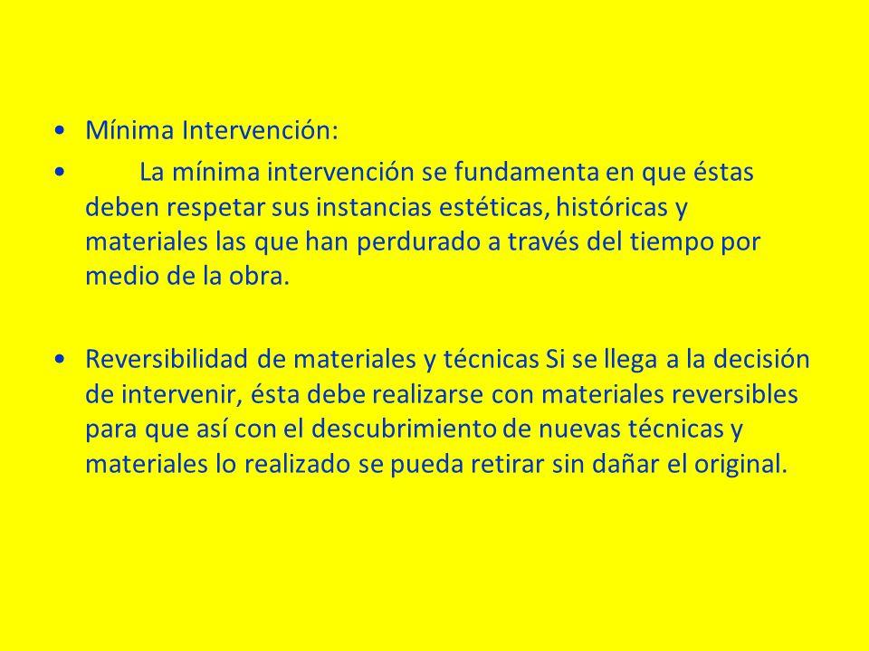 Mínima Intervención: