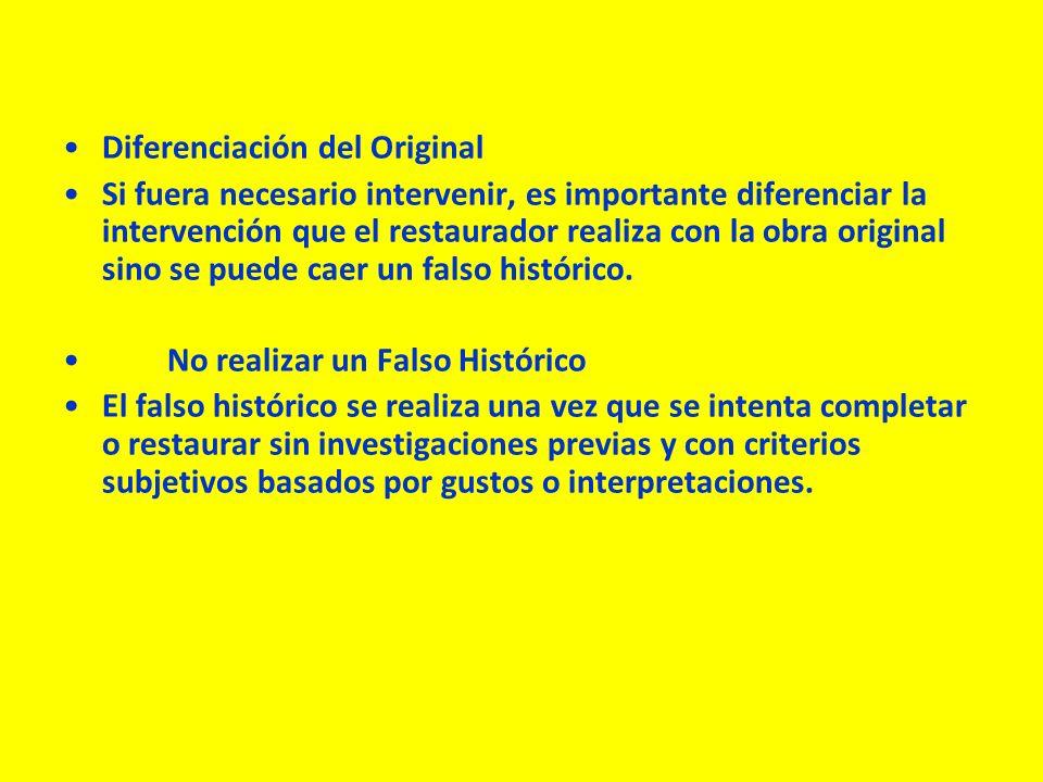 Diferenciación del Original