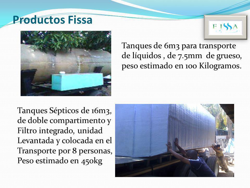 Productos Fissa Tanques de 6m3 para transporte