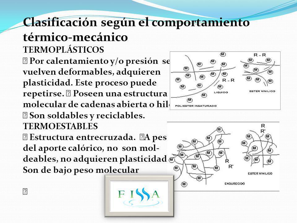 Clasificación según el comportamiento térmico-mecánico