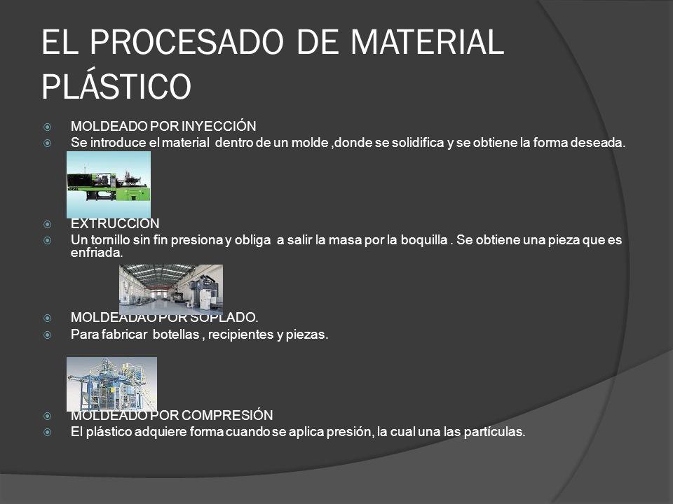 EL PROCESADO DE MATERIAL PLÁSTICO