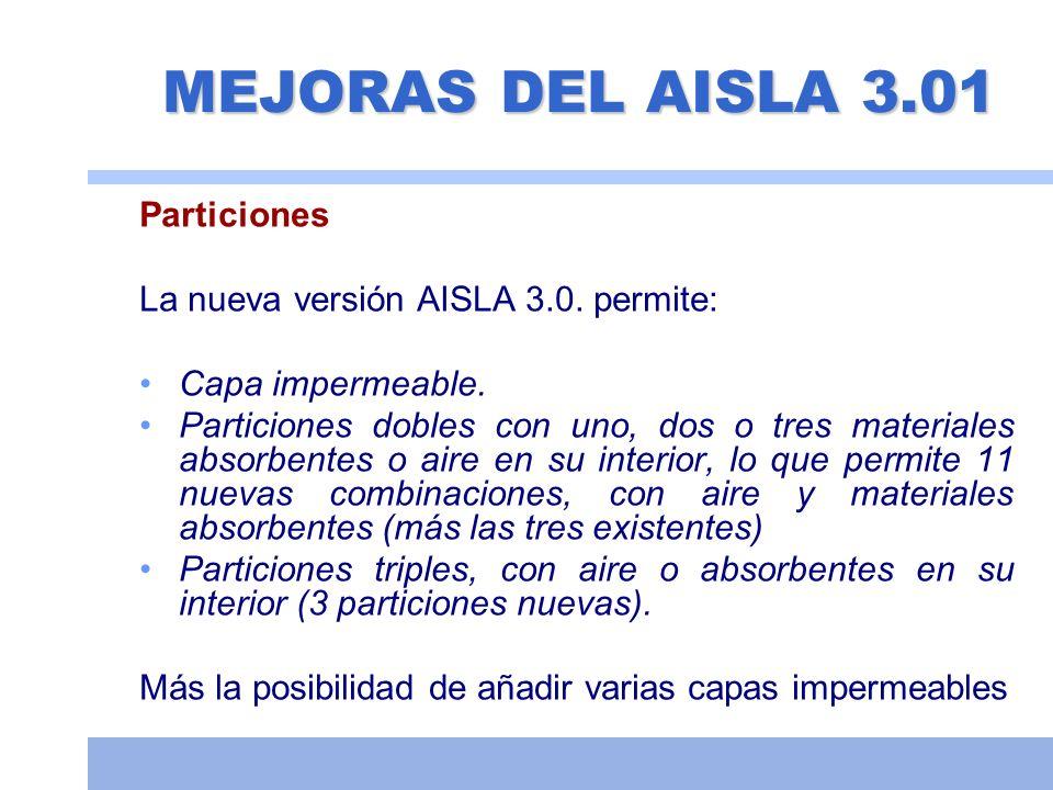 MEJORAS DEL AISLA 3.01 Particiones