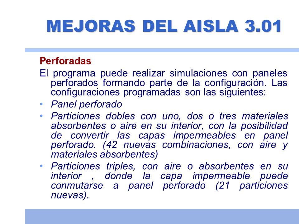 MEJORAS DEL AISLA 3.01 Perforadas