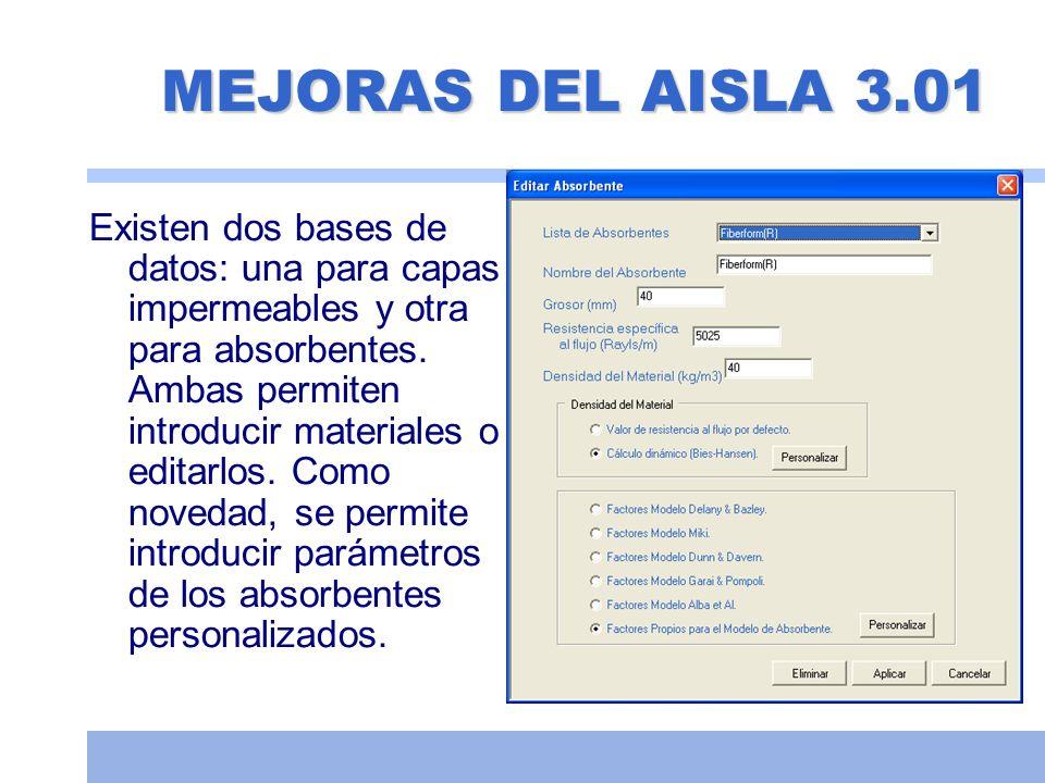 MEJORAS DEL AISLA 3.01