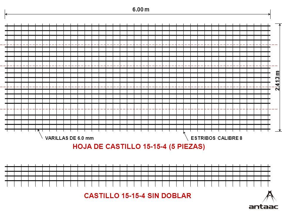 HOJA DE CASTILLO 15-15-4 (5 PIEZAS)