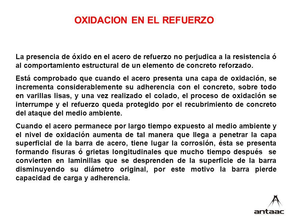 OXIDACION EN EL REFUERZO