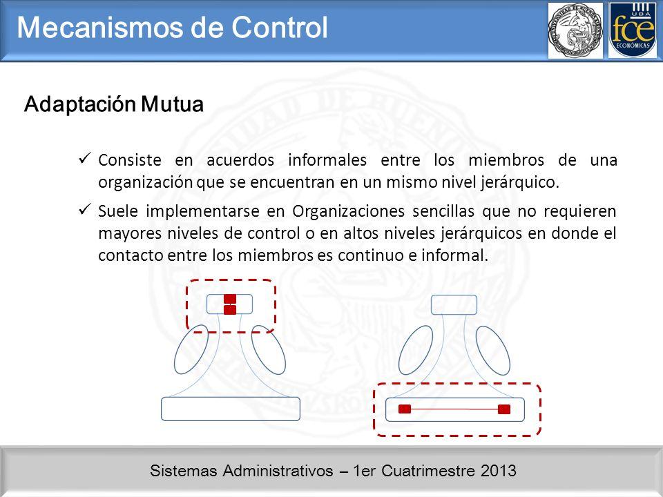 Mecanismos de Control Adaptación Mutua