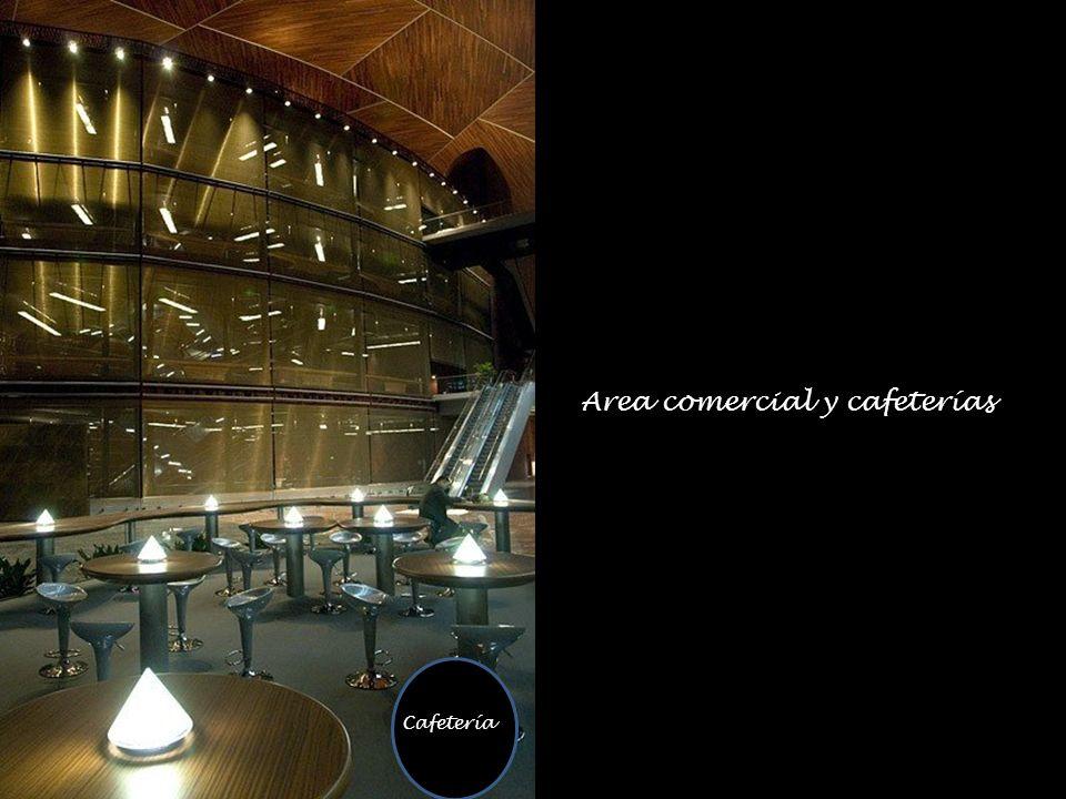 Area comercial y cafeterías