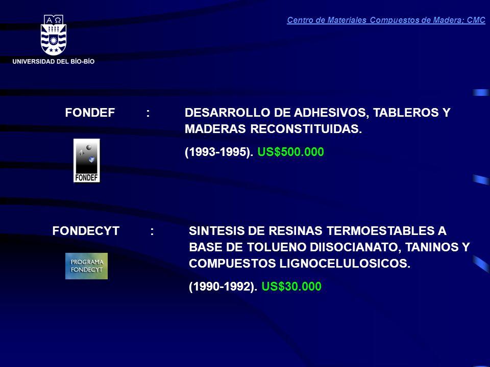 FONDEF : DESARROLLO DE ADHESIVOS, TABLEROS Y MADERAS RECONSTITUIDAS.