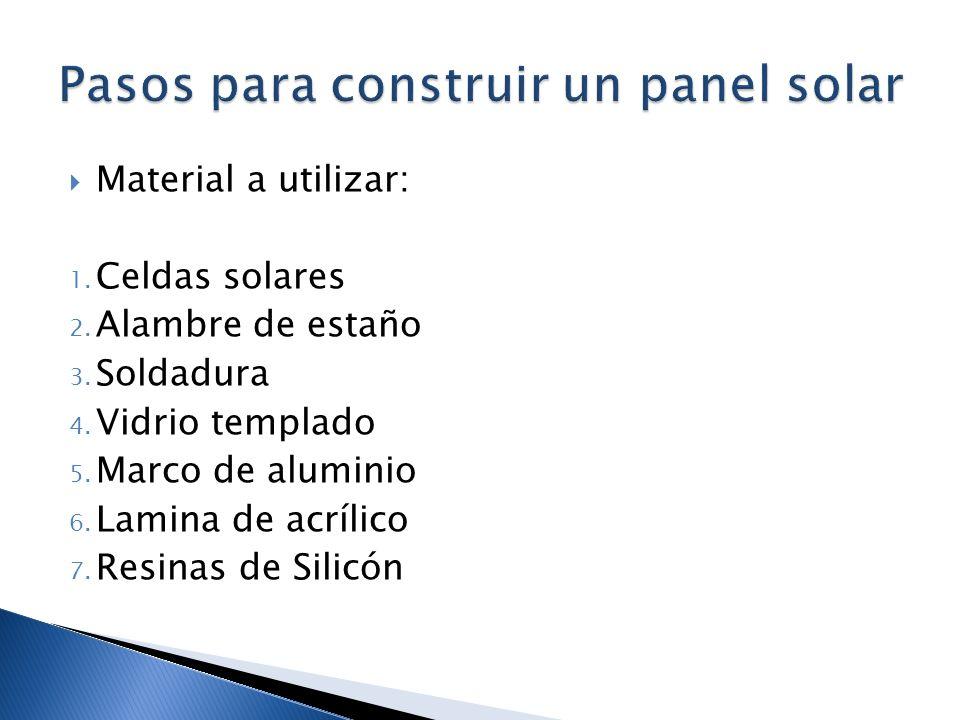 Pasos para construir un panel solar