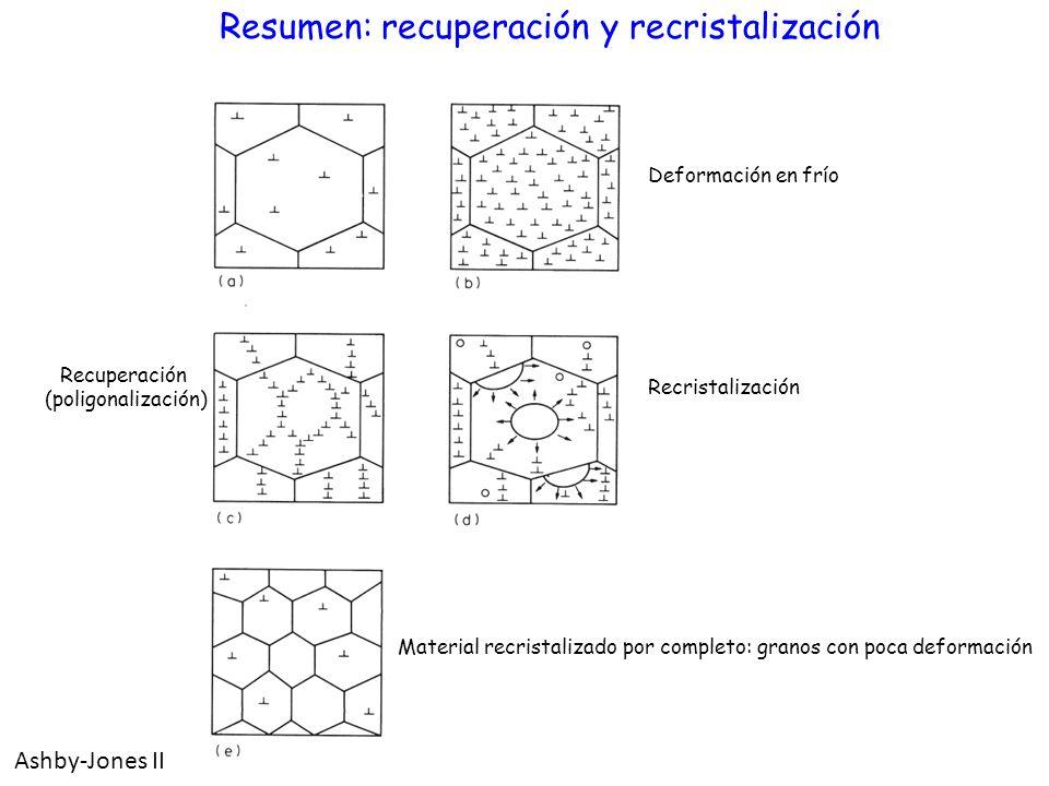 Resumen: recuperación y recristalización