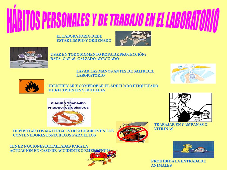 HÁBITOS PERSONALES Y DE TRABAJO EN EL LABORATORIO