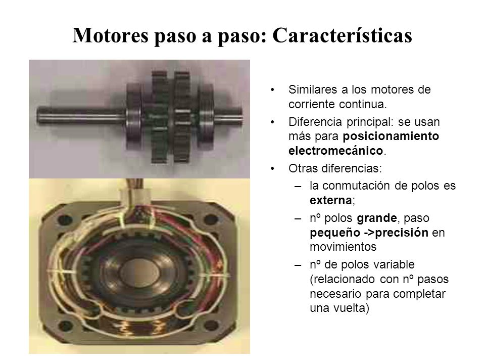 Motores paso a paso: Características