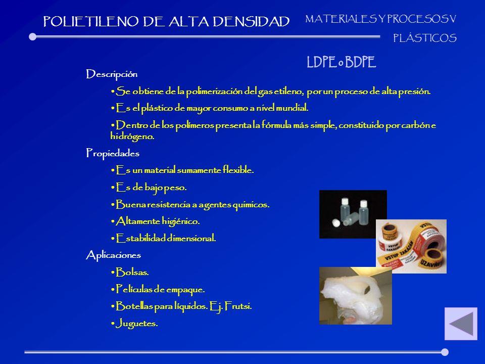 POLIETILENO DE ALTA DENSIDAD