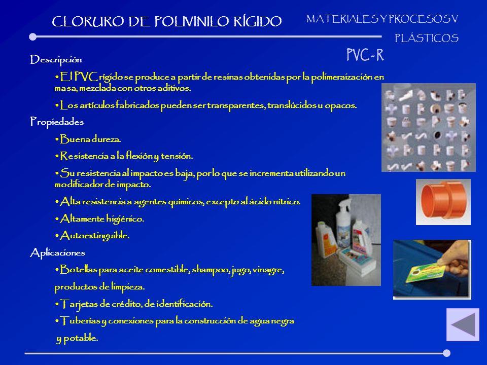 CLORURO DE POLIVINILO RÍGIDO