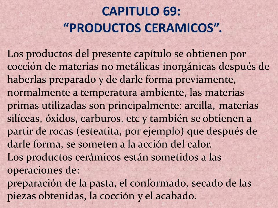 PRODUCTOS CERAMICOS .