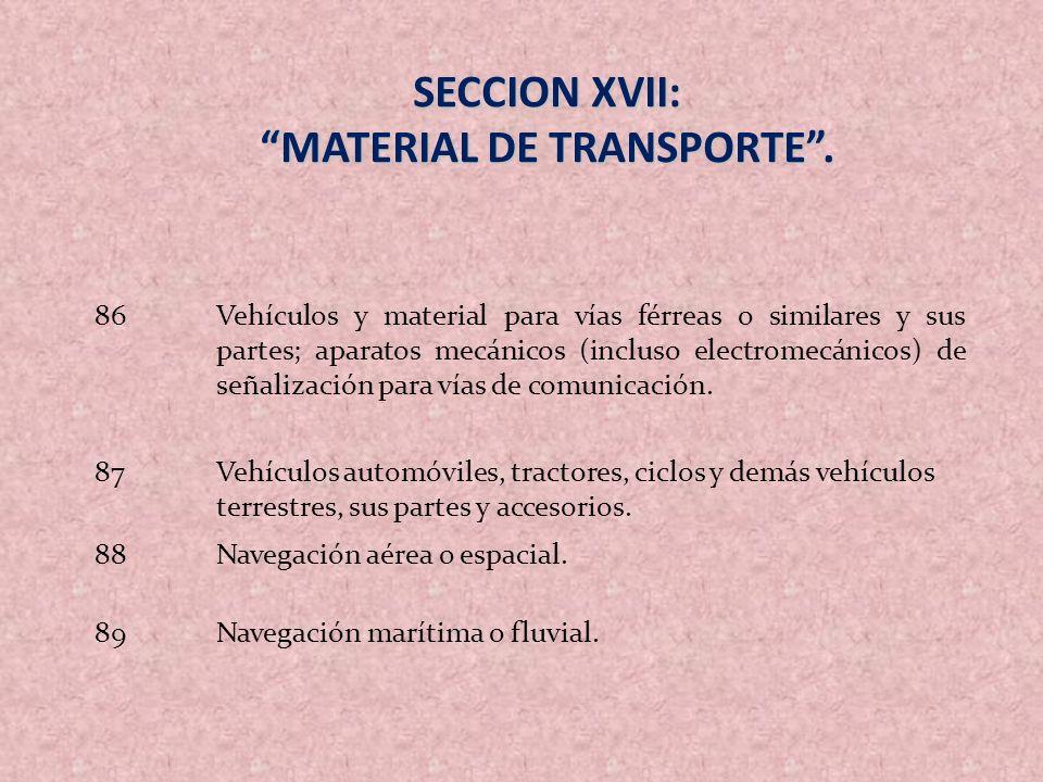 MATERIAL DE TRANSPORTE .