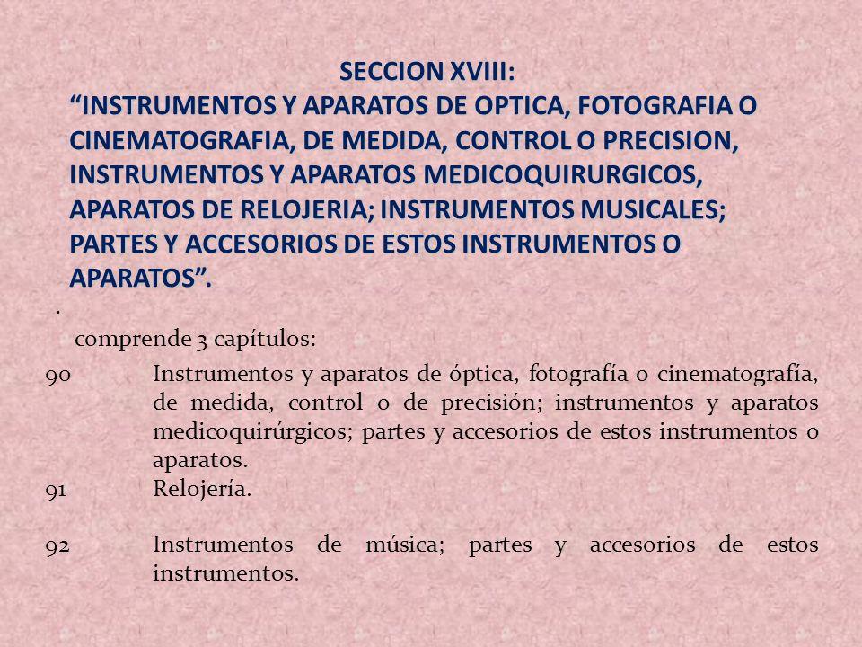 SECCION XVIII: