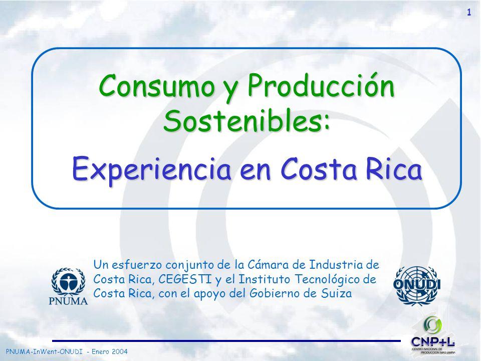 Consumo y Producción Sostenibles: Experiencia en Costa Rica