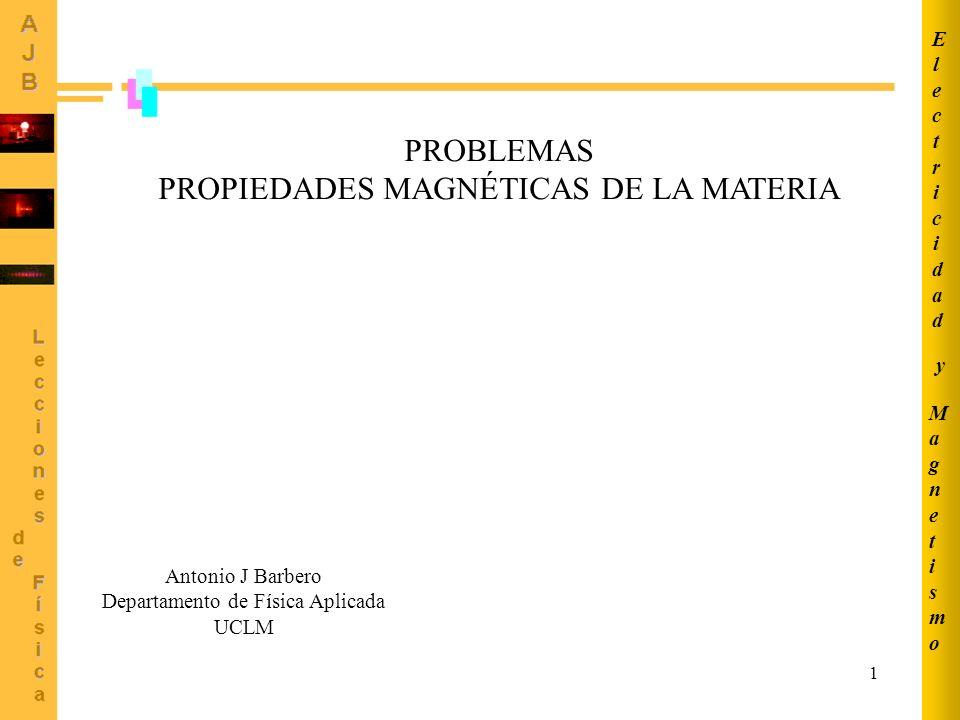 PROPIEDADES MAGNÉTICAS DE LA MATERIA