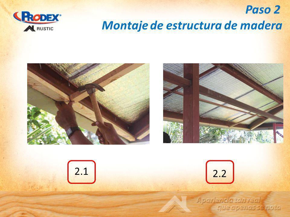 Montaje de estructura de madera